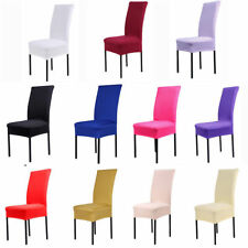 2/4/6/8 Pcs Removable Stretch Slipcovers Dining Spandex Chair Seat Cover