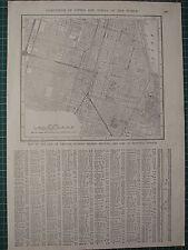 1926 MAP ~ CHICAGO CITY PLAN PRINCIPAL STREETS WASHINGTON PARK JACKSON PARK