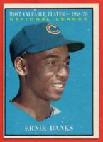 1961 Topps #485 Ernie Banks EX-EXMINT+ MVP HOF Chicago Cubs FREE SHIPPING