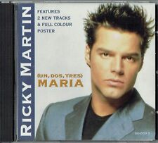 "RICKY MARTIN - 5"" CD - Maria (Spanglish (Radio Edit) 4 Track + Poster.  Columbia"