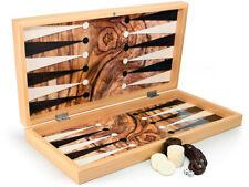 Luxus Backgammon Tavla Dama XXL Gesellschaftsspiele Familienspiel Oliven B Ware