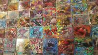 100 Pokemon card lot; 5+RARES and HOLOS including 2 GX/MEGA/EX CARDS GUARANTEED!