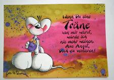 Diddl Postkarte   ###   Nr. 42b - WENN DU EINE TRÄNE VON MIR WÄRST.....   ###