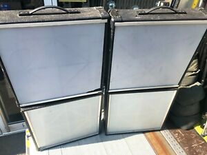 FOUR = 2 x pairs of OLD Generic Disco Light Screens in tatty UNCHECKED condition