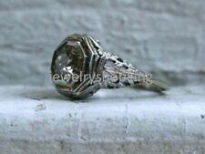 Vintage & Antique Art Deco Fine Wedding Ring 14k White Gold Finish 2.7Ct Diamond