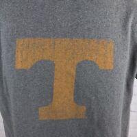 Champion Authentic University of Tennessee T-Shirt Volunteers Gray Orange Medium