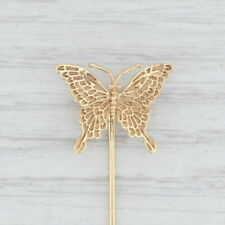 Butterfly Stickpin 14k Yellow Gold Vintage Insect Pin
