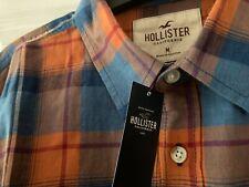 NEW MEN'S HOLLISTER LONG SLEEVED CHECKED SHIRT - SIZE MEDIUM