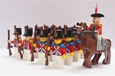Napoleonic Wars Minifigure 20 x Red Coat Soldiers w General & Horse Custom Brand