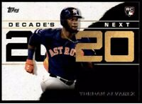 2020 Topps Decade's Next #DN-4 Yordan Alvarez RC - Houston Astros