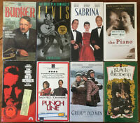 New VHS Tapes Sealed Lot Of 8 Comedy Romance Drama Documentary