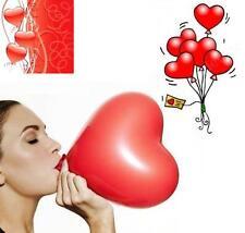 50 Ballons COEUR Rouge pour Fêtes Anniversaire Mariage BAPTEME St Valentin Noël