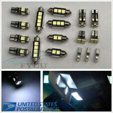 17 Pcs 12V Autos White LED Light For Interior&Dome&License Plate Lamps Universal