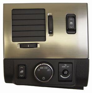 2008-2009 Hummer H2 LH Headlight Switch Bezel W/Vent 25861042 20863703 25957686