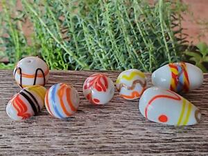 Vintage 80's India Glass Beads Salesman Samples Mix Trail Decoration DIY Jewelry