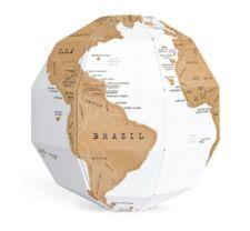 World Map DIY Creative 3D Travel Gift Globe Fun Scratch Study Ornament QK