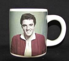 NEW WHITE CERAMIC ELVIS PRESLEY SIGNATURE AND PICTURE COFFEE TEA MUG CUP