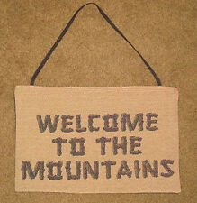 Welcome To The Mountains Mini Tapestry Bannerette Wall Hanging