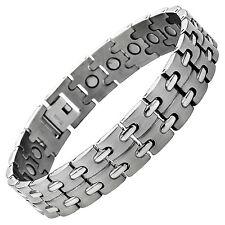 Willis Judd Mens Titanium Strong Magnetic Bracelet Free Adjuster Tool Gift Boxed