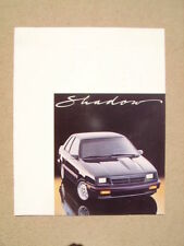 1987 DODGE SHADOW DEALER SALES BROCHURE