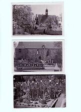 Lot 134: 3 AK PK  Fotokarten Kirchen Gotteshäuser Gräber  ungelaufen vor 1945