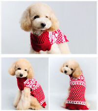Pet Dog Warm Jumper Sweater Xmas Clothing Puppy Cat Knit Costume Coat Christmas
