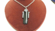 sterling silver black onyx and marcasite necklace 19 in long
