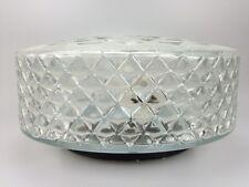 60er 70er Jahre Deckenlampe Lampe Leuchte Plafoniere Bleikristall Glas Space Age