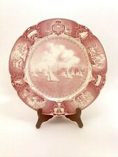 """Rare Wedgwood Us Naval Academy Red Plate Sailboat Drill 10"""" Excellent Condition"""