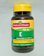 Nature Made Vitamin E 400 IU 180mg 100 Softgels Exp June 2024