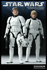 STAR WARS HAN & LUKE in STORMTROOPER DISGUISE 1/6 SDCC Sideshow Exclusive 12""