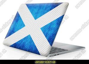 "15.6"" LAPTOP SKIN 709 wrap sticker single printed vinyl SCOTLAND FLAG CARBON"