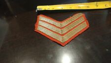 """Brabb's Estate Large Gold & Red 5"""" Long Patch Military / Police Historical"""