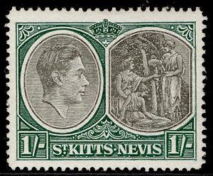 ST KITTS-NEVIS GV SG75b, 1s black & green, M MINT.