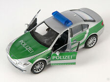 BLITZ VERSAND BMW 535i Polizei silber- grün Welly Modell Auto 1:34-39 NEU & OVP
