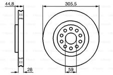 2x Bremsscheibe für Bremsanlage Vorderachse BOSCH 0 986 478 963