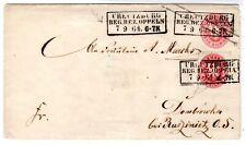Preußen-Ganzsache mitZuF; gelaufen von Creutzburg (!) nach Dombrowka
