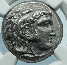ALEXANDER III the GREAT Silver Tetradrachm Ancient Greek Coin CYPRUS NGC i65992
