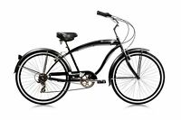 Beach Cruiser Rover 26-inch 7-speed Bike Men's/Ladies Different Colors Bicycle