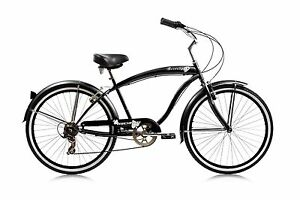 Beach Cruiser Rover 24-inch 7-speed Bike Men's/Ladies Different Colors Bicycle