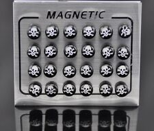 Non Piercing Clip on Magnetic Magnet Ear Stud Mens Womens Fake Earrings Funky UK 1 Pcs - 8 Mm