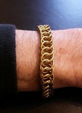 "Chunky 8"" 4 in 1 Persian Weave Golden Chain-mail Bracelet Chain Mail Custom Fit"