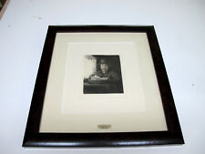 "REMBRANDT ""Self Portrait At Window"" Plate Signed Etching Amand Durand"