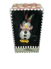 Mary Engelbreit Christmas Penguin Clown Design W/ Sparkles Ornament