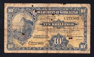 Gibilterra / Gibraltar - 10 shillings 1937  A-04