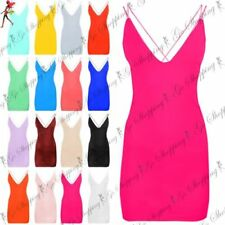 Polyester Strappy Stretch Dresses for Women