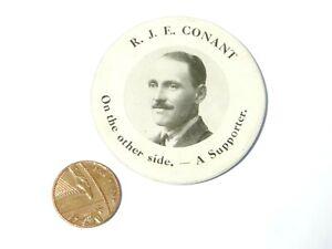 Major Sir R.J.E. Conant CONSERVATIVE Supporter Celluloid Photograph Mirror #WL17