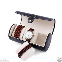 3 Slot Watch Travel Case PU Leather Roll Box Collector Organizer Jewelry Storage