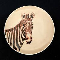 Vintage Fitz And Floyd Zebra Porcelain Plate