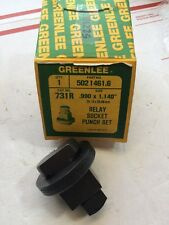 """Greenlee 731R .990"""" x 1.140"""" Rectangle Relay Socket Knockout Punch Set 25x29mm"""